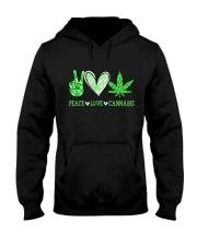 Peace Love Cannabis Hooded Sweatshirt thumbnail