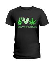 Peace Love Cannabis Ladies T-Shirt thumbnail