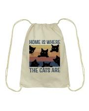 Where The Cats Are Drawstring Bag thumbnail