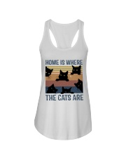 Where The Cats Are Ladies Flowy Tank thumbnail