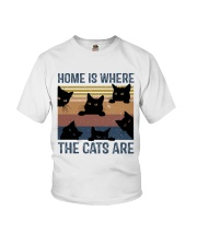 Where The Cats Are Youth T-Shirt thumbnail
