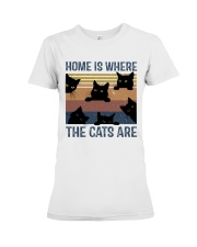 Where The Cats Are Premium Fit Ladies Tee thumbnail