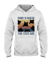 Where The Cats Are Hooded Sweatshirt front