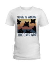 Where The Cats Are Ladies T-Shirt thumbnail