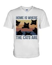 Where The Cats Are V-Neck T-Shirt thumbnail