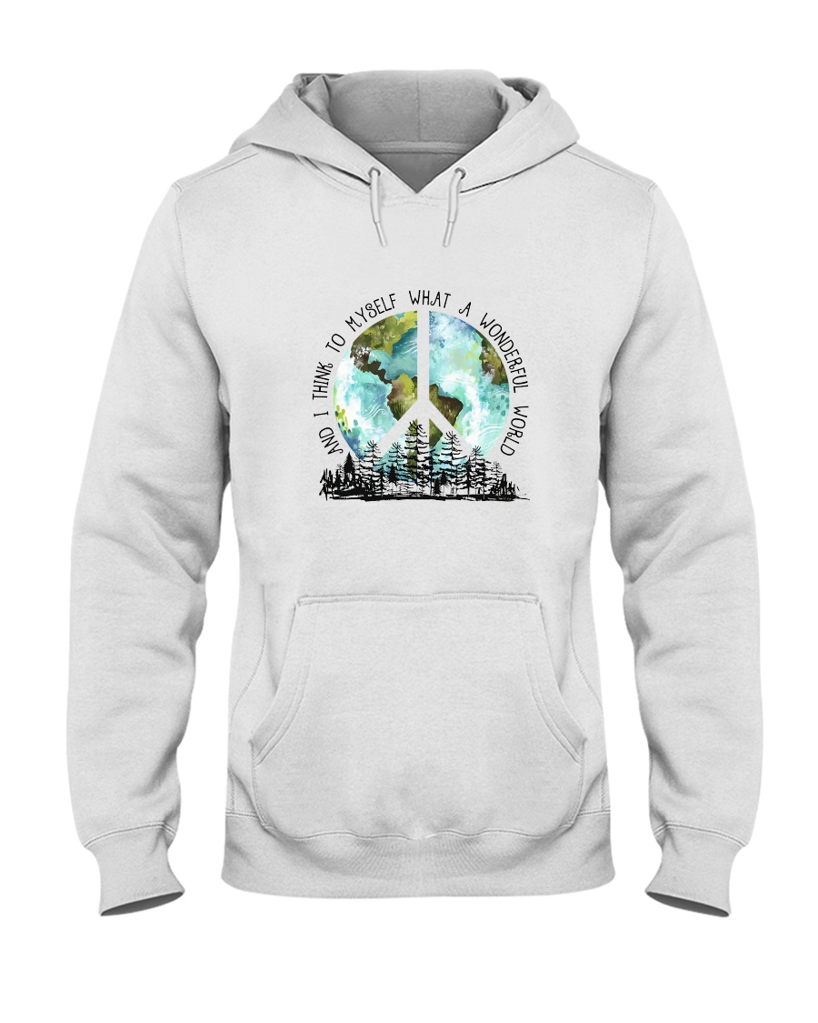 Myself What A Wonderful World 7 Hooded Sweatshirt