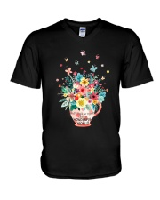 Myself What A Wonderful World V-Neck T-Shirt thumbnail
