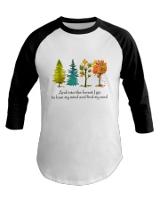 And Into The Forest I Go Baseball Tee tile