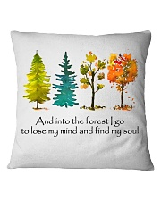 And Into The Forest I Go Square Pillowcase tile