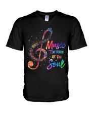 Music The Voice Of The Soul V-Neck T-Shirt thumbnail