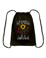 Be A Sunflower Drawstring Bag thumbnail