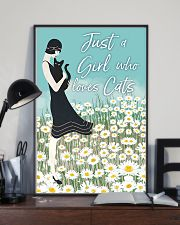Just A Girl Who Loves Cats 11x17 Poster lifestyle-poster-2