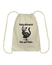 Cats And Skulls Drawstring Bag thumbnail