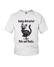 Cats And Skulls Youth T-Shirt thumbnail