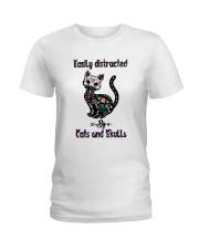 Cats And Skulls Ladies T-Shirt thumbnail
