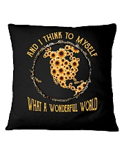 Myself What A Wonderful World 4 Square Pillowcase tile