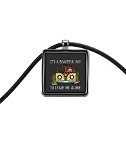 Its A Beautiful Day Cord Rectangle Necklace thumbnail