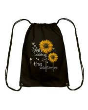 You Belong Among The Wildflowers 1 Drawstring Bag thumbnail