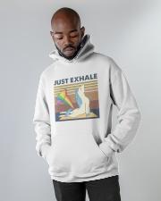Just Exhale Hooded Sweatshirt apparel-hooded-sweatshirt-lifestyle-front-09