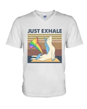 Just Exhale V-Neck T-Shirt thumbnail