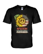 American Sunflower V-Neck T-Shirt thumbnail