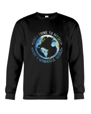 Myself What A Wonderful World Crewneck Sweatshirt front