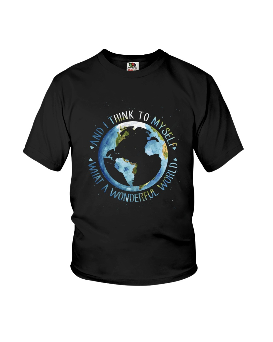 Myself What A Wonderful World Youth T-Shirt