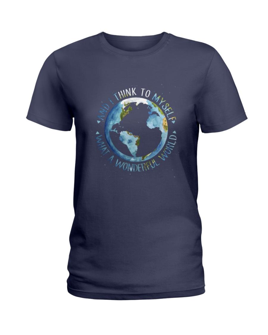 Myself What A Wonderful World Ladies T-Shirt
