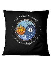 Myself What A Wonderful World 8 Square Pillowcase tile