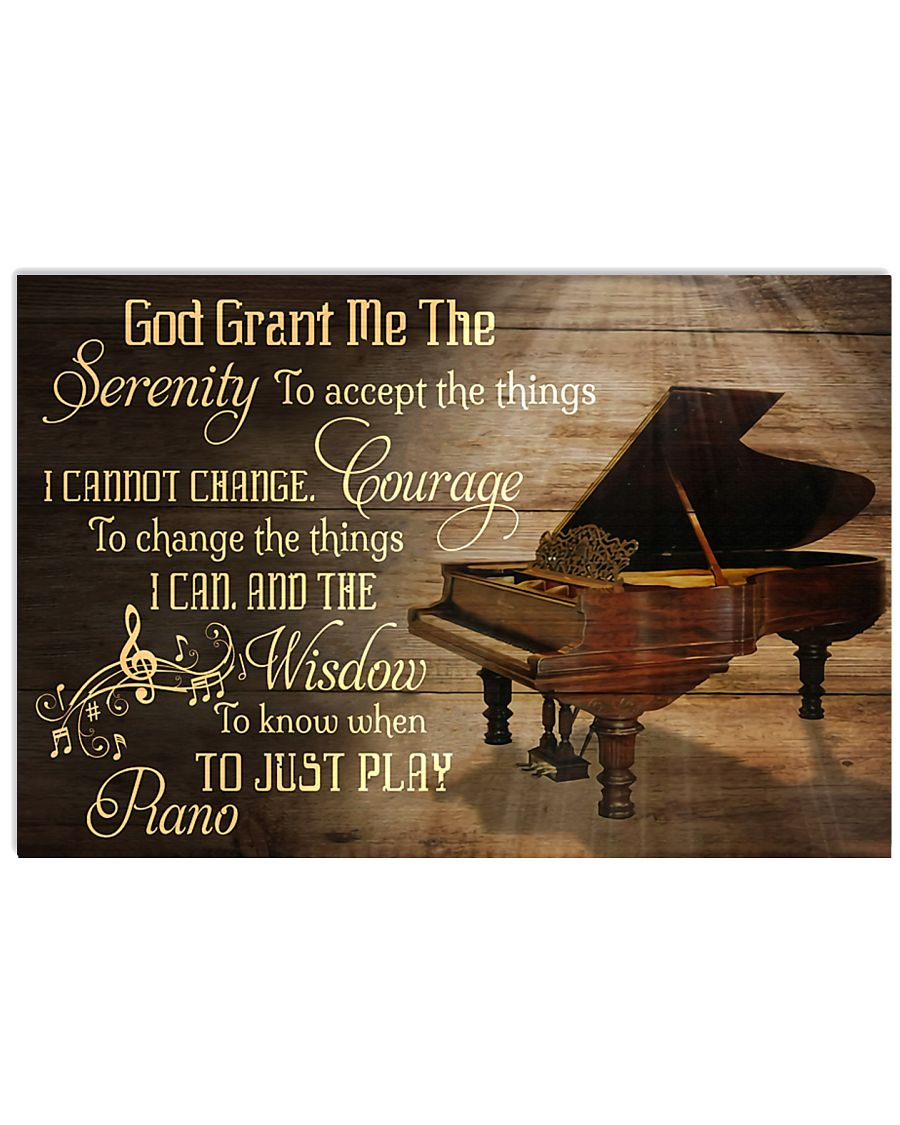 Just Play Piano 17x11 Poster