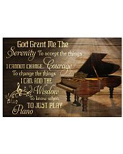 Just Play Piano 17x11 Poster front