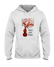 Peace Love Music Hooded Sweatshirt front