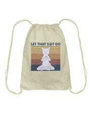 Let That Go Drawstring Bag thumbnail