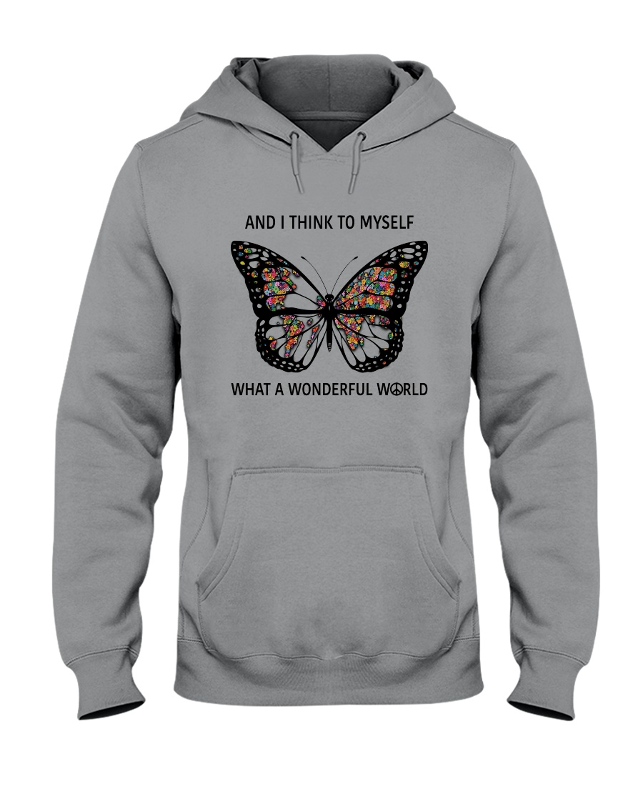 Myself What A Wonderful World 2 Hooded Sweatshirt