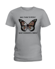 Myself What A Wonderful World 2 Ladies T-Shirt thumbnail