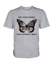 Myself What A Wonderful World 2 V-Neck T-Shirt thumbnail
