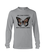 Myself What A Wonderful World 2 Long Sleeve Tee thumbnail
