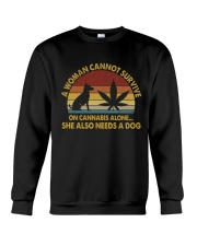 Can Not Survive On Cannabis Crewneck Sweatshirt thumbnail