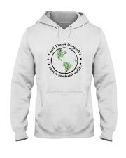 Myself What A Wonderful World 2 Hooded Sweatshirt front