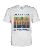 Choose Your Weapon V-Neck T-Shirt thumbnail