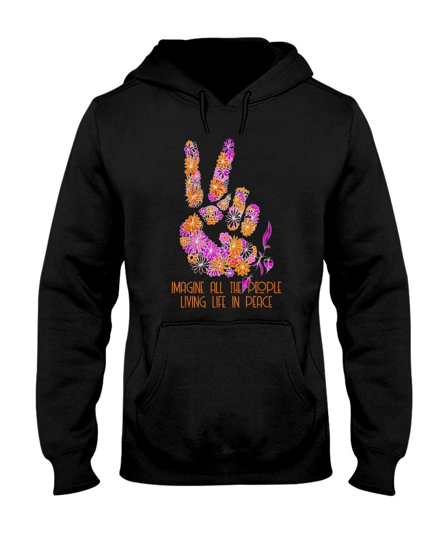 People Living Life In Peace 1 Hooded Sweatshirt