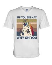 Why Oh You V-Neck T-Shirt thumbnail