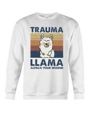 Trauma Lllama Crewneck Sweatshirt thumbnail
