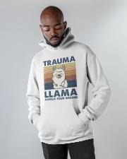 Trauma Lllama Hooded Sweatshirt apparel-hooded-sweatshirt-lifestyle-front-09
