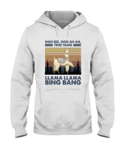Llama Llama Bing Bang Hooded Sweatshirt front