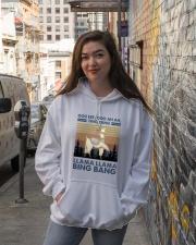Llama Llama Bing Bang Hooded Sweatshirt lifestyle-unisex-hoodie-front-1