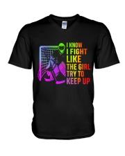 I Know I Fight V-Neck T-Shirt thumbnail