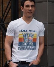 Navy Veteran V-Neck T-Shirt lifestyle-mens-vneck-front-2