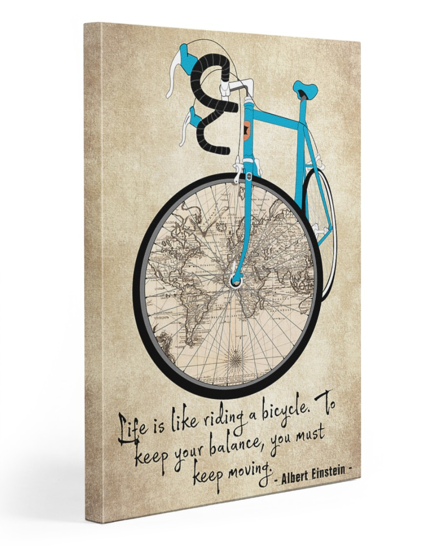 Life Is Like Riding A Bicycle 20x30 Gallery Wrapped Canvas Prints