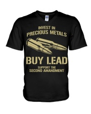 Invest In  Precious Metals V-Neck T-Shirt thumbnail